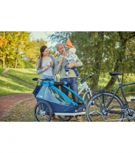 Croozer Kid Plus for 2 Ocean blue 2019 incl. light