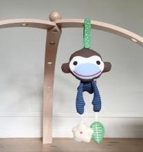FRANCK & FISCHER Activity Toy Monkey Asger blue