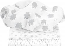 Odenwälder Mullwindeln cloudy light silver