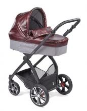 Gesslein Indy combi-stroller Purple Power incl. carryot, seat frame black/black