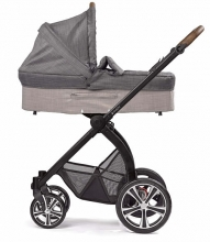 Gesslein Indy combi-stroller Highrise incl. carryot, seat frame black/tobacco