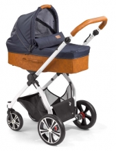 Gesslein Indy combi-stroller Shore incl. carryot, seat frame white/cognac
