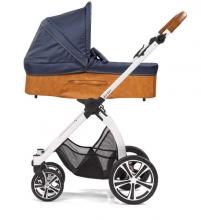 Gesslein Indy combi-stroller Shore incl. carryot, seat frame white/cognac