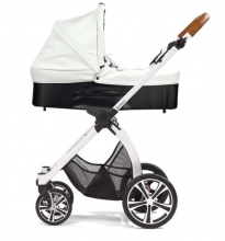 Gesslein Indy combi-stroller Savanna incl. carryot, seat frame white/cognac