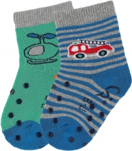 Sterntaler ABS crawling socks 17/18 fire truck blue