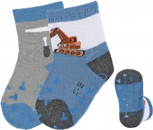 Sterntaler ABS crawling socks 21/22 digger blue