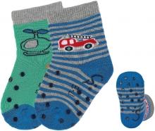 Sterntaler ABS crawling socks 21/22 fire truck blue