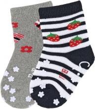 Sterntaler ABS crawling socks 17/18 strawberry black
