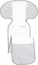 Odenwälder Coolmax™ Babycool-Autositzauflage für mitmachsende Kindersitze silber