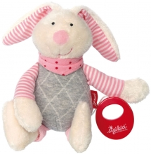 Sigikid 39035 Muscial toy bunny rose Urban Baby Edition