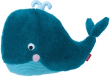 Sigikid 39072 Pillow whale blue Urban Baby Edition