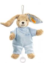 Steiff Musical toy Hoppel rabbit blue