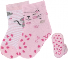 Sterntaler ABS crawling socks cat 17/18 rose