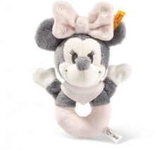 Steiff 290060 Minnie Mouse grip toy 13 grey/rose/white