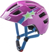 Cratoni child helmet Maxster purple star glossy S-M