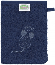 Odenwälder Terry cloth washing mitt mouse navy 3 pieces