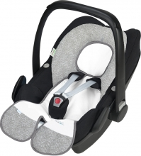 Odenwälder Babycool-child seat group 0 inlay Coolmax new woven silver