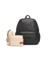 Babymel diaper backpack Luna Faux Leather Black