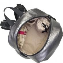 Babymel diaper backpack Luna Faux Leather Pewter