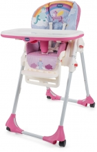 Chicco Highchair Polly Easy with 4 wheels unicorn