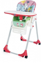 Chicco Highchair Polly Easy with 4 wheels Country Farm