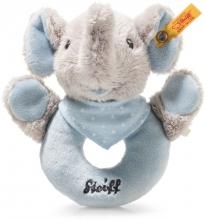 Steiff Trampili Elefant Greifring 13 cm grau / blau