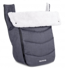 Teutonia Trio Winter Footmuff melange grey