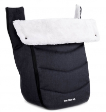 Teutonia Trio Winter Footmuff melange black