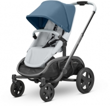 Quinny Hubb Stroller Blue Coral on Grey