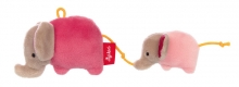 Sigikid 42290 Rattle Elephant Red Stars