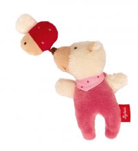 Sigikid 42295 Rattle Bear with beetle Red Stars