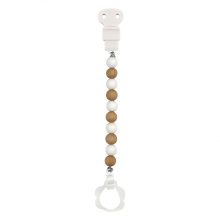 Nattou 879484 Lapidou pacifier chain wood white