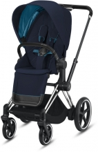 Cybex ePriam Nautical Blue incl. frame and seat with sun canopy