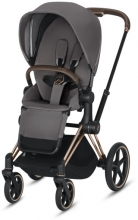 Cybex Priam Manhattan grey incl. frame and seat with sun canopy