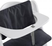 Hauck Highchairpad Deluxe Melange Charcoal