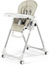 Peg Perego Prima Pappa Follow me Babydot Beige (Imitation Leather)