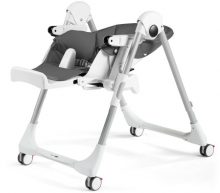 Peg Perego Prima Pappa Follow me Linear Grey (Lederimitat)