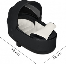Cybex Priam Lux Carrycot True Red - without frame