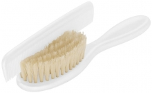 Rotho comb and brush white