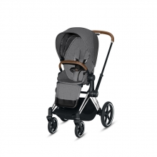 Cybex Priam PLUS Manhattan grey incl. frame and seat with sun canopy