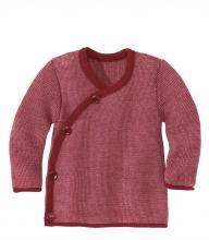 Disana Melange jacket 74/80 bordeaux-rose