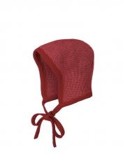 Disana knitted hood Gr.0 bordeaux-rose
