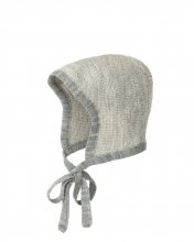 Disana knitted hood Gr.0 grau-natur