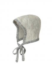 Disana knitted hood Gr.1 grau-natur