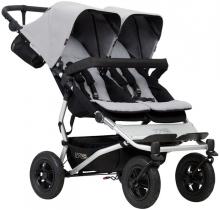 Mountainbuggy Duet V3 silver twin stroller