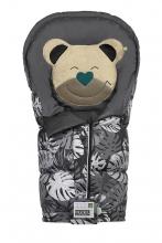 Odenwälder sleeping bag Mucki L Fashion Tropical Leaves coll. 19/20 black graphite