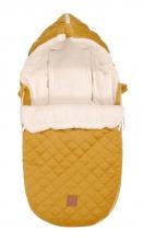Kaiser Baby carseat footmuff Velvet Hoody coll. 19/20 mustard yellow