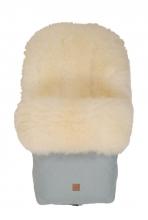 Kaiser footmuff Nelly Ldt. edition lambskin milky sand coll. 19/20 ice green