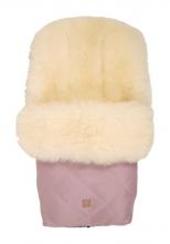 Kaiser Fußsack Nelly Ltd. Edition Lammfell milky sand Koll. 19/20 orchid pink