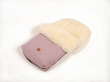 Kaiser footmuff Nelly Ldt. edition lambskin milky sand coll. 19/20 orchid pink